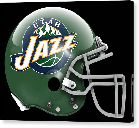 Utah Jazz Canvas Print - Jazz What If Its Football by Joe Hamilton