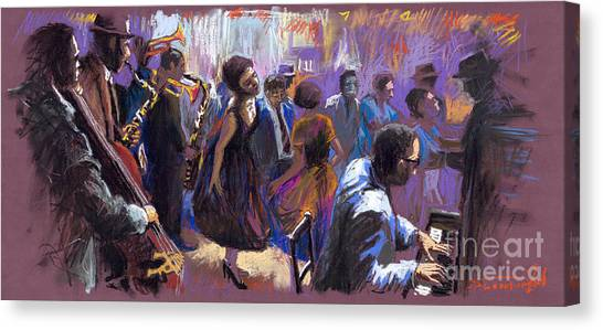Jazz Canvas Print - Jazz by Yuriy Shevchuk