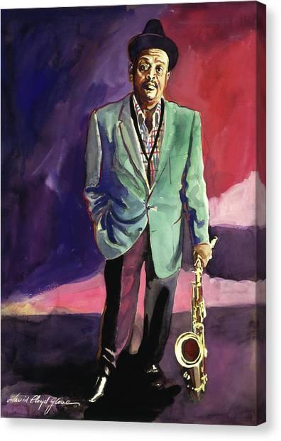 Saxophone Canvas Print - Jazzman Ben Webster by David Lloyd Glover