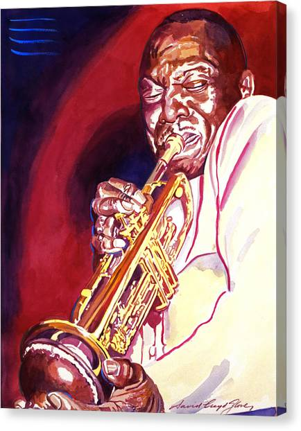 Most Viewed Canvas Print - Jazzman Cootie Williams by David Lloyd Glover