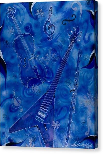 Jazzy And Icy Canvas Print by Shellton Tremble