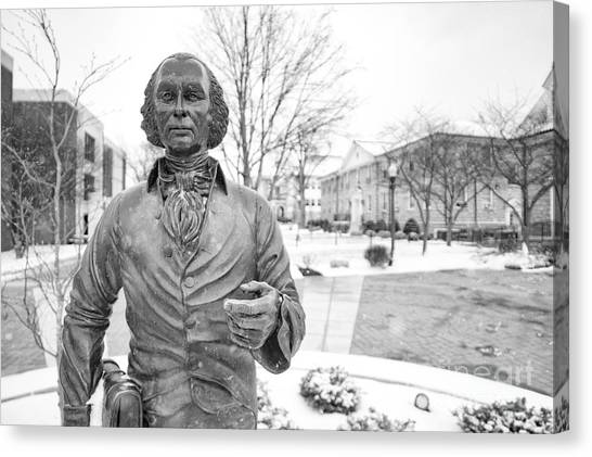 James Madison University Jmu Canvas Print - James Madison by Cara Walton