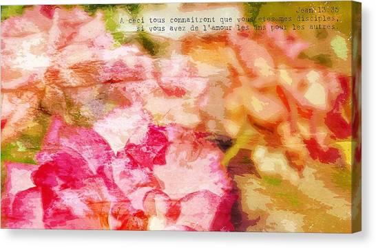 Jean 13-35 Disciples Canvas Print
