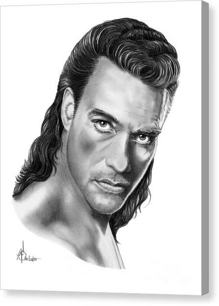 Street Fighter Canvas Print - Jean-claude Van Damme by Murphy Elliott