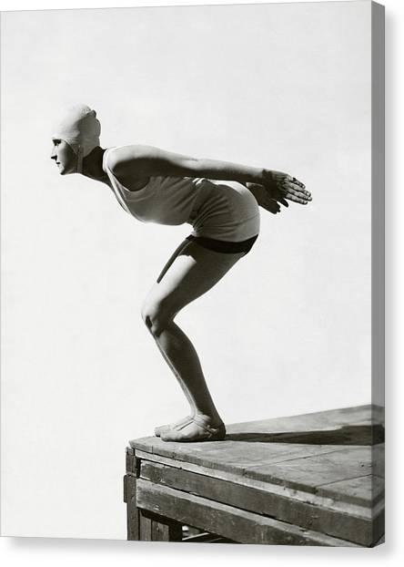 Jean Patou Swimwear Canvas Print by George Hoyningen-Huene