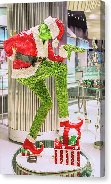 Grinch Canvas Print - Jean Philippe's Chocolate Grinch In The Aria Casino by Aloha Art