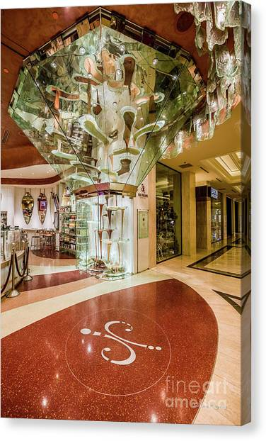 Grinch Canvas Print - Jean Philippe's Patisserie - World's Largest Chocolate Fountain In The Bellagio by Aloha Art