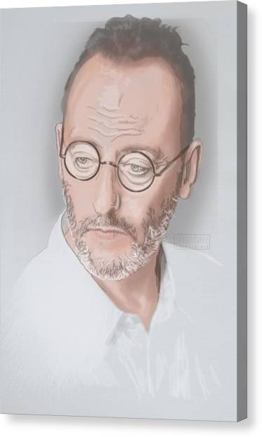 Canvas Print featuring the mixed media Jean Reno by TortureLord Art