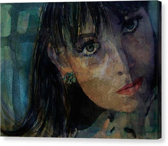 Shrimping Canvas Print - Jean Shrimpton by Paul Lovering