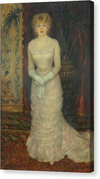 Jeanne Samary Canvas Print by Pierre Auguste Renoir