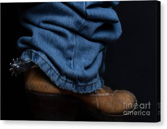Jeans And Cowboy Boots Canvas Print