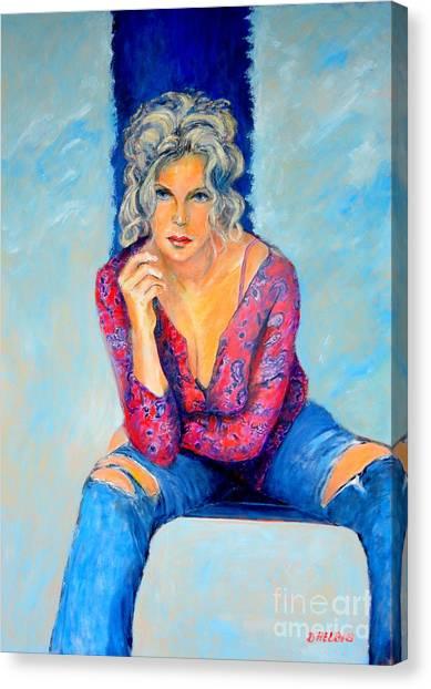 Jeans II Canvas Print