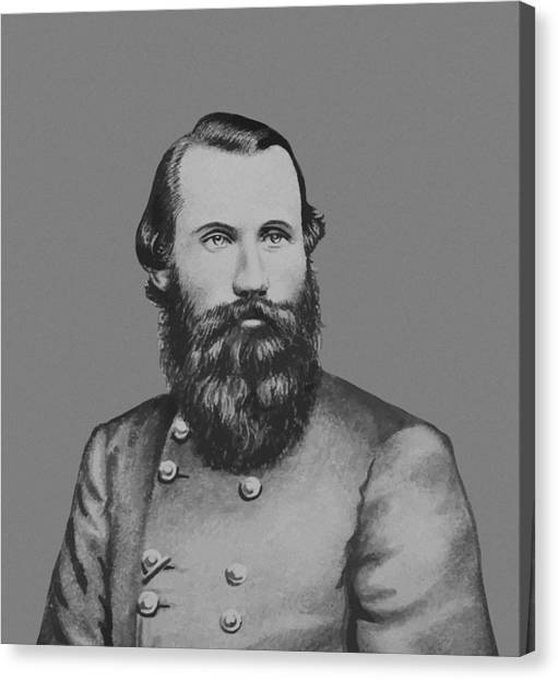 Confederate Army Canvas Print - Jeb Stuart -- Confederate General by War Is Hell Store