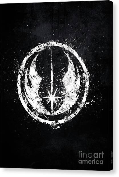 Obi-wan Kenobi Canvas Print - Jedi Emblem Star Wars by Jonathon Summers