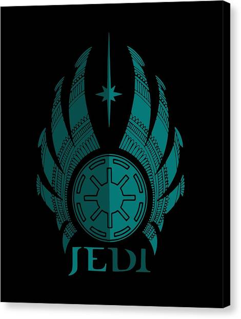 Jedi Canvas Print - Jedi Symbol - Star Wars Art, Blue by Studio Grafiikka
