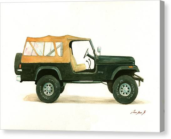 Jeep Canvas Print - Jeep Cj8 by Juan Bosco