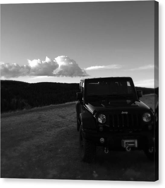 Call Of Duty Canvas Print - Jeep  by Sarah Jane Thompson