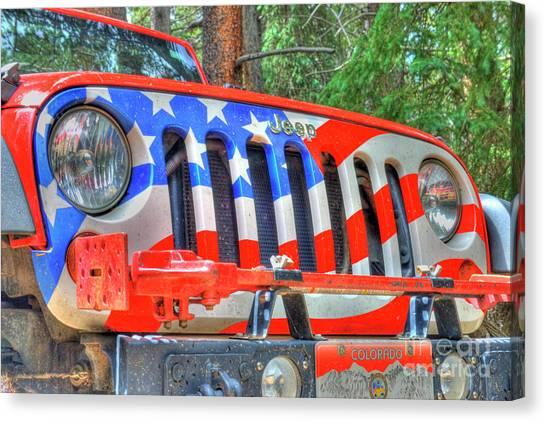 Jeep Usa Canvas Print