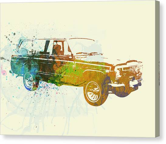 Automobiles Canvas Print - Jeep Wagoneer by Naxart Studio