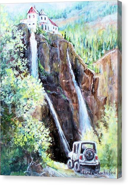 Jeeping At Bridal Falls  Canvas Print