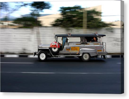 Jeepney 4 Canvas Print by Jez C Self
