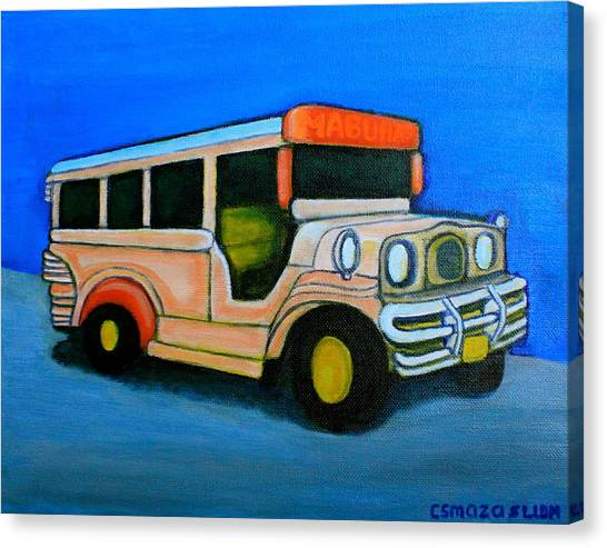 Jeepney Canvas Print