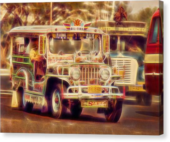 Jeepney Manila Canvas Print