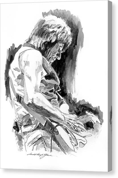 Stratocasters Canvas Print - Jeff Beck In Concert by David Lloyd Glover