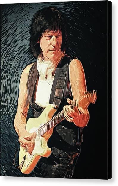 Eric Clapton Canvas Print - Jeff Beck by Zapista