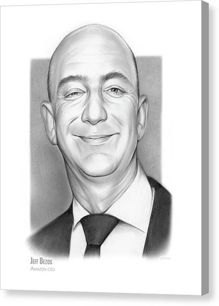 Amazon Canvas Print - Jeff Bezos by Greg Joens