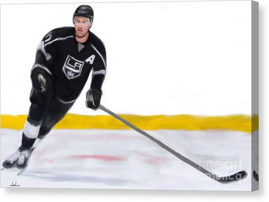 Los Angeles Kings Canvas Print - Jeff Carter by Jack Bunds