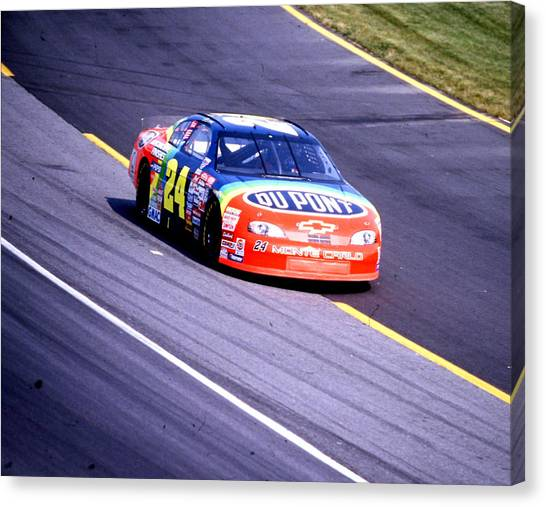Hendrick Motorsports Canvas Print - Jeff Gordon # 24 Dupont Chevrolet At Charlotte by David Bryant