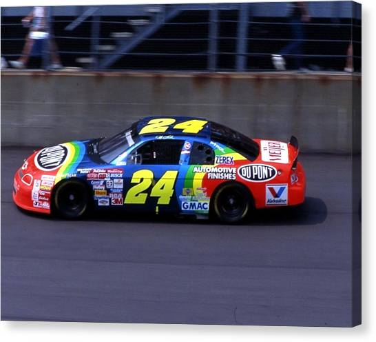 Hendrick Motorsports Canvas Print - Jeff Gordon # 24 Dupont Chevrolet At Daytona by David Bryant
