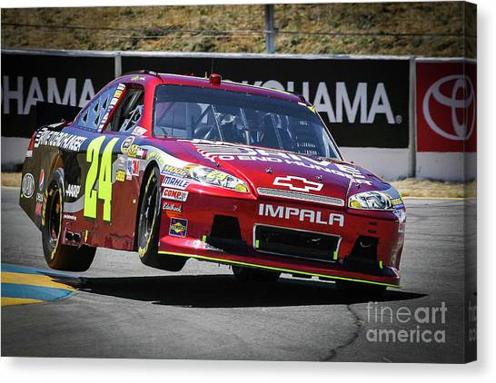 Hendrick Motorsports Canvas Print - Jeff Gordon 2012 by Webb Canepa