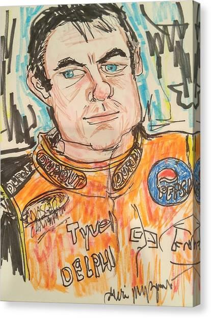 Jeff Gordon Canvas Print - Jeff Gordon by Geraldine Myszenski