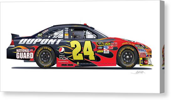 Pepsi Canvas Print - Jeff Gordon Nascar Image by Alain Jamar