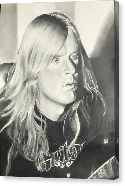 Jeff Hanneman Canvas Print - Jeff Hanneman by Chuck Schultz