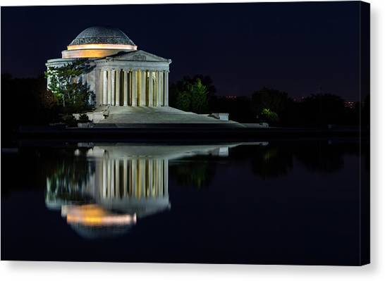 The Jefferson At Night Canvas Print