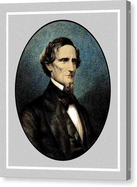 Confederate Canvas Print - Jefferson Davis by War Is Hell Store