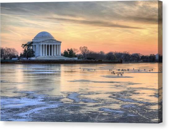 Jefferson Memorial Canvas Print - Jefferson by JC Findley