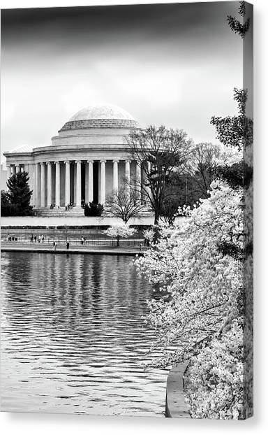 Jefferson Memorial Cherry Blosum Time Canvas Print