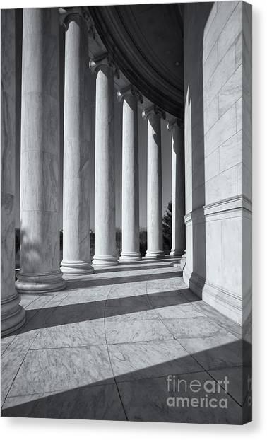 Jefferson Memorial Columns And Shadows Canvas Print