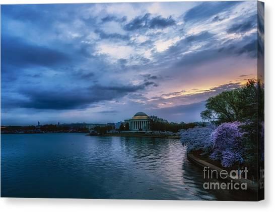 Jefferson Memorial Canvas Print - Jefferson Memorial Dawn by Thomas R Fletcher