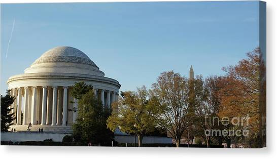 Canvas Print - Jefferson Memorial by Megan Cohen