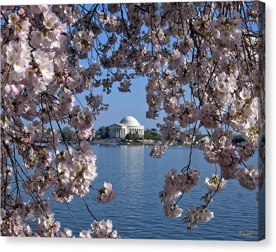 Washington Nationals Canvas Print - Jefferson Memorial On The Tidal Basin Ds051 by Gerry Gantt