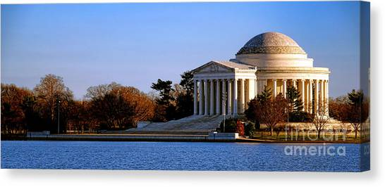 Jefferson Memorial Canvas Print - Jefferson Memorial Sunset by Olivier Le Queinec