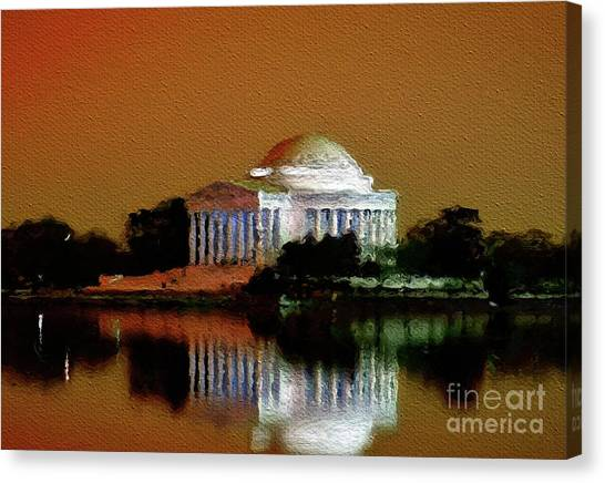 Jefferson Memorial Canvas Print - Jefferson Memorial, Washington by Mary Bassett