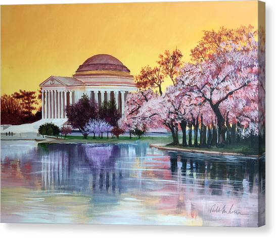 Atlantic 10 Canvas Print - Jefferson Monument by Robert Korhonen