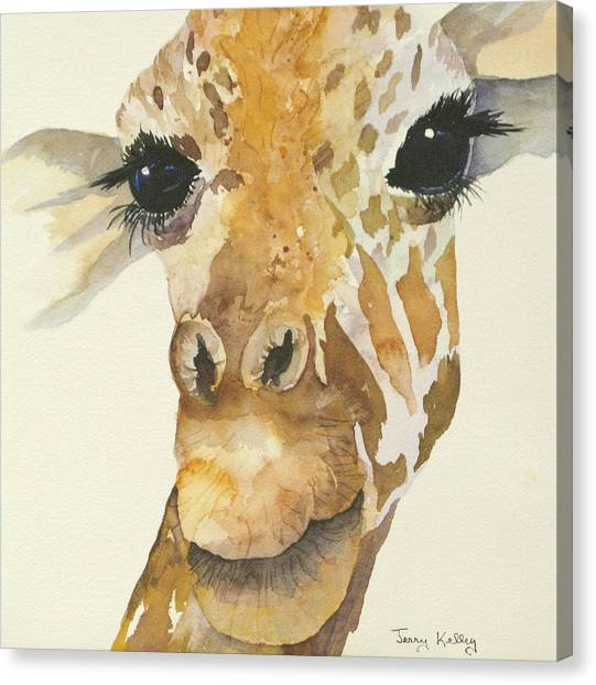 Jeffrey Giraffe Canvas Print