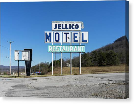Jellico Motel Canvas Print